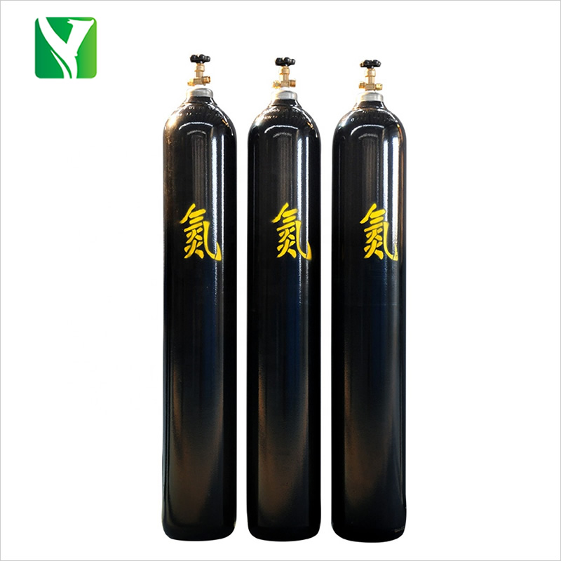 40L Factory directly supply refillable seamless steel Nitrogen gas cylinders/tanks/bottles with competitive price